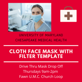 UMD Cloth Face Mask Template
