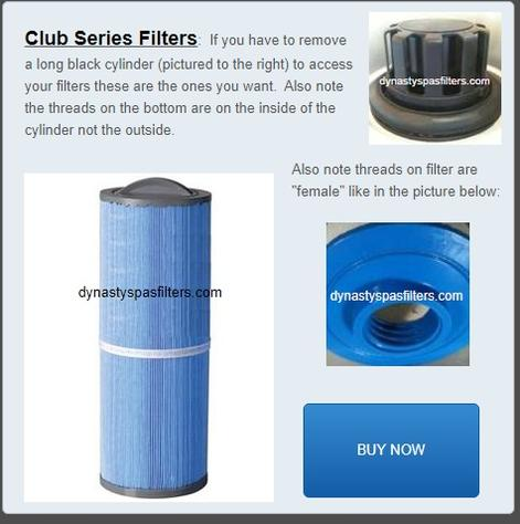 club series filter, filter with female threads, pww50L, dynasty 13079, great barrier 8525