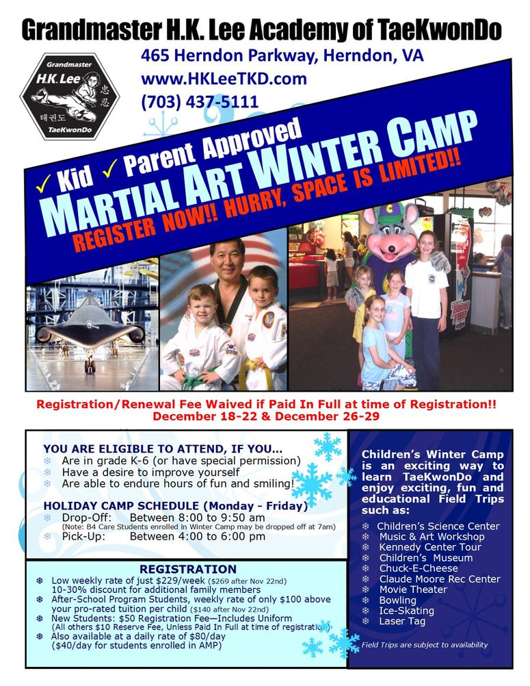 Flyer - Winter Camp