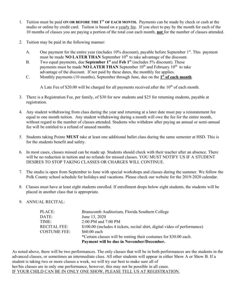 Policy Sheet