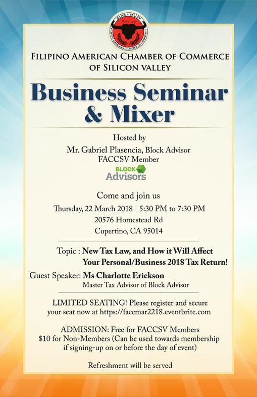 Business Seminar and Mixer