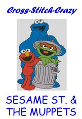Cross stitch charts of muppets and sesame street main page