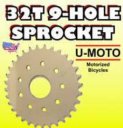 32t motorized bike sprocket