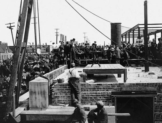 1909 - Laying the Cornerstone for the Municipal Building