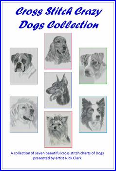Cross Stitch Chart, Pattern, Book, Dogs