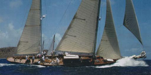 Classic large sailing yacht