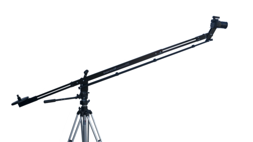 This Camera jib telescopes out from 48 inches to 78 inches, powder coated semi flat black. I has a telescopic counter weight section which makes it possible to achieve perfect balance. Great with dslrs, camcorders and cameras weighing up to 7 pounds.