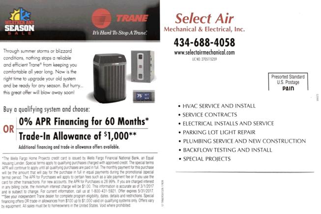 Select Air Mechanical in Altavista, Va