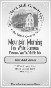 Nora Mill Mountain Morning Pancake Waffle Muffin Mix Recipes