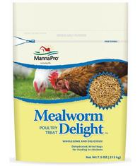 Manna Pro Mealworm Dellight we have in different size packages