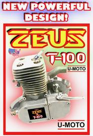 80cc/100cc 2-stroke motorized bike engine new design