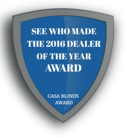 2016 Window Blinds Dealers and recommended service providers of the Year