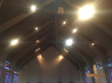 RP64 Par64 LED replacement lamp for church sanctuary lighting, save on energy and hvac costs, efficient lighting