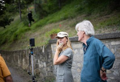 On set: The Monsters of Florence
