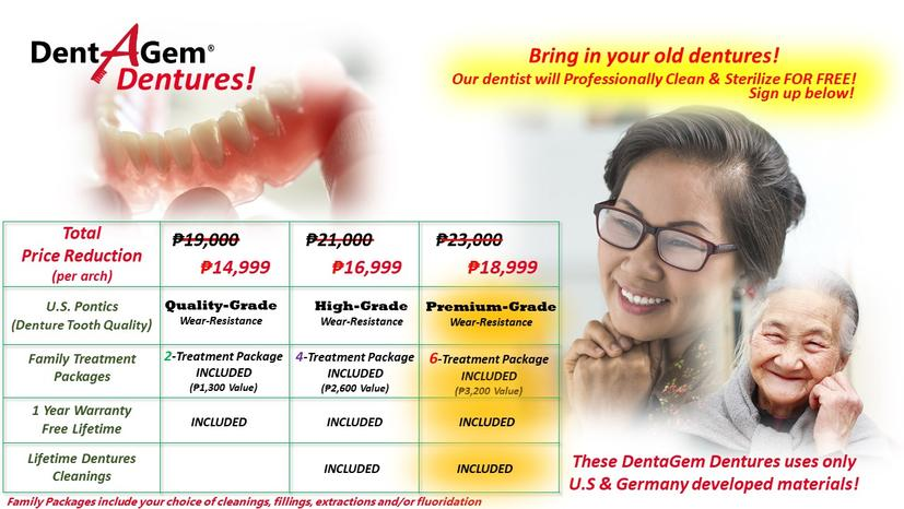 Flexible Dentures Deal Incl  P2500 SM Shopping Spree!