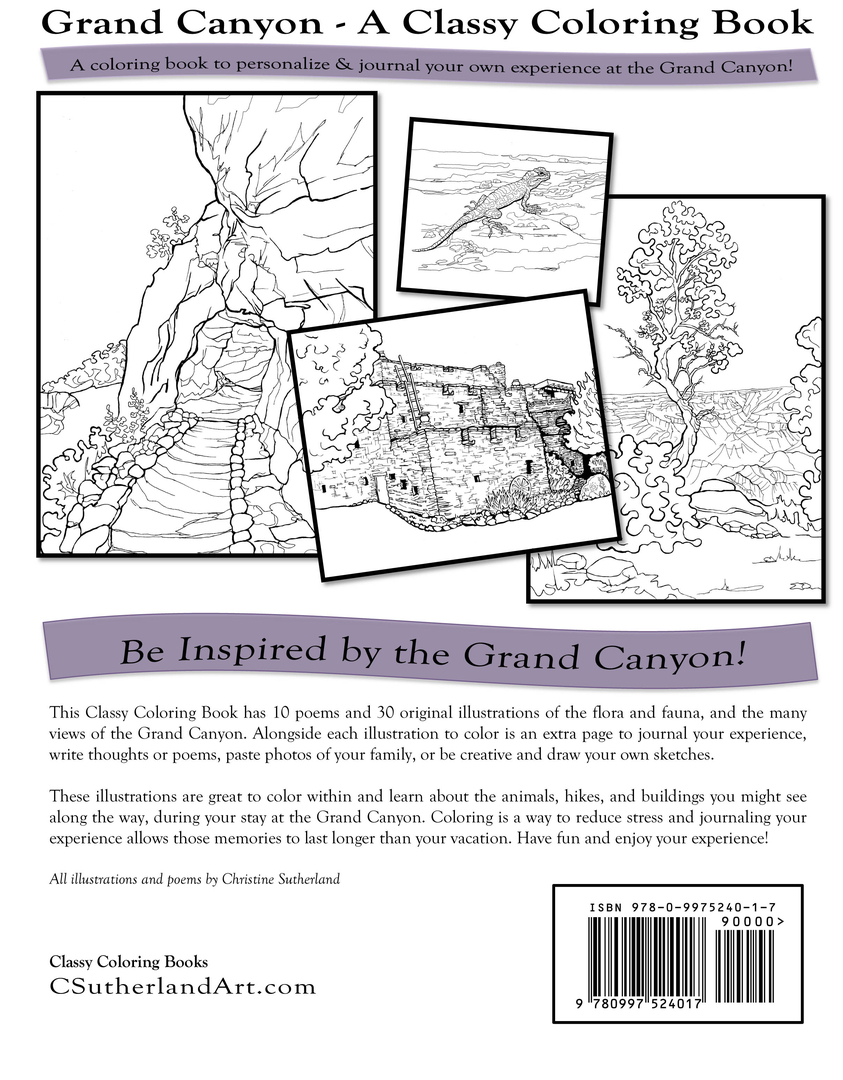 classy coloring books csutherlandart publication date oct 20 2016 isbnean13 0997524014 9780997524017 page count 84 binding type us trade paper - Coloring Book Paper Type