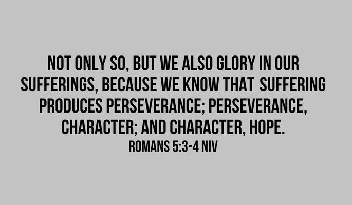 verse of the day romans 53 4 niv