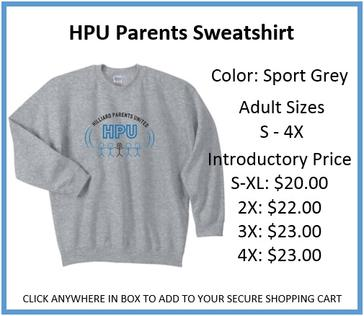 HPU Parents Sweatshirt Grey