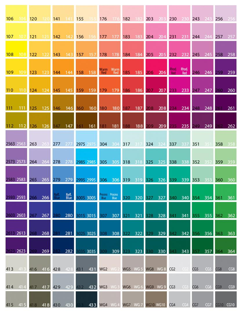 Color chart nvjuhfo Image collections