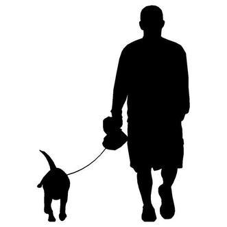 Risultati immagini per man and dog symbol