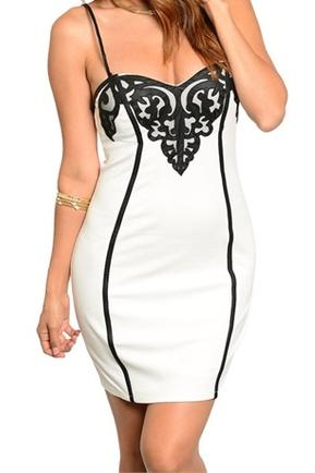 Black White Bodycon Dress
