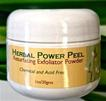 green herbal exfoliant powder