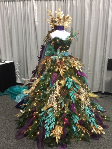 made for the palmetto heath foundations festival of trees savanah christmas tree dress - Christmas Tree Dress