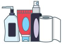 graphic of hygiene products