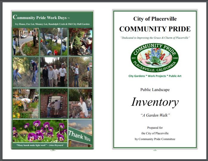 Placerville Community Pride Volunteers Gardens & Projects Inventory 2017 Archives Josette Johnson http://www.josettejohnson