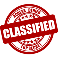 Classified Sticker