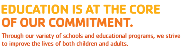 YMCA Slogan Education is at the core of our commitment.