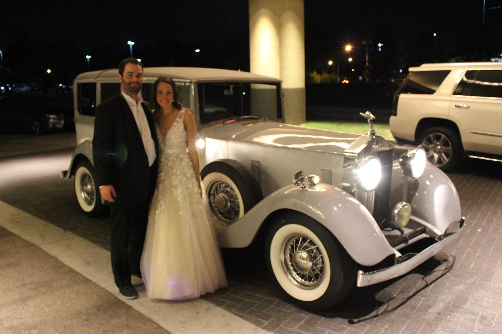 Rolls Royce Baton Rouge Wedding Transportation Antique Classic Limo