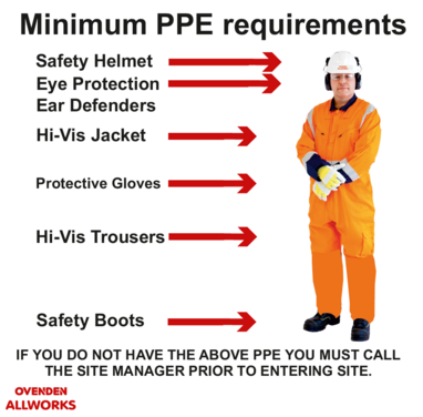 Ovenden Allworks Health and Safety PPE