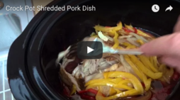 Crock Pot Shredded Pork Dish