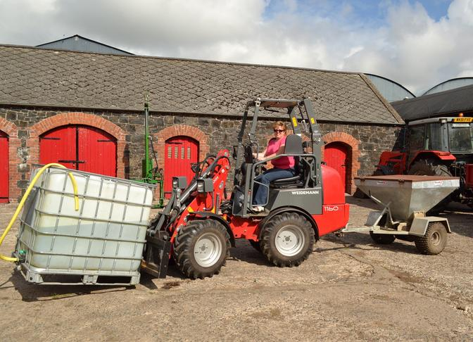 Lyndon Hull, Antrim with a Weidemann 1160 Hoftrac