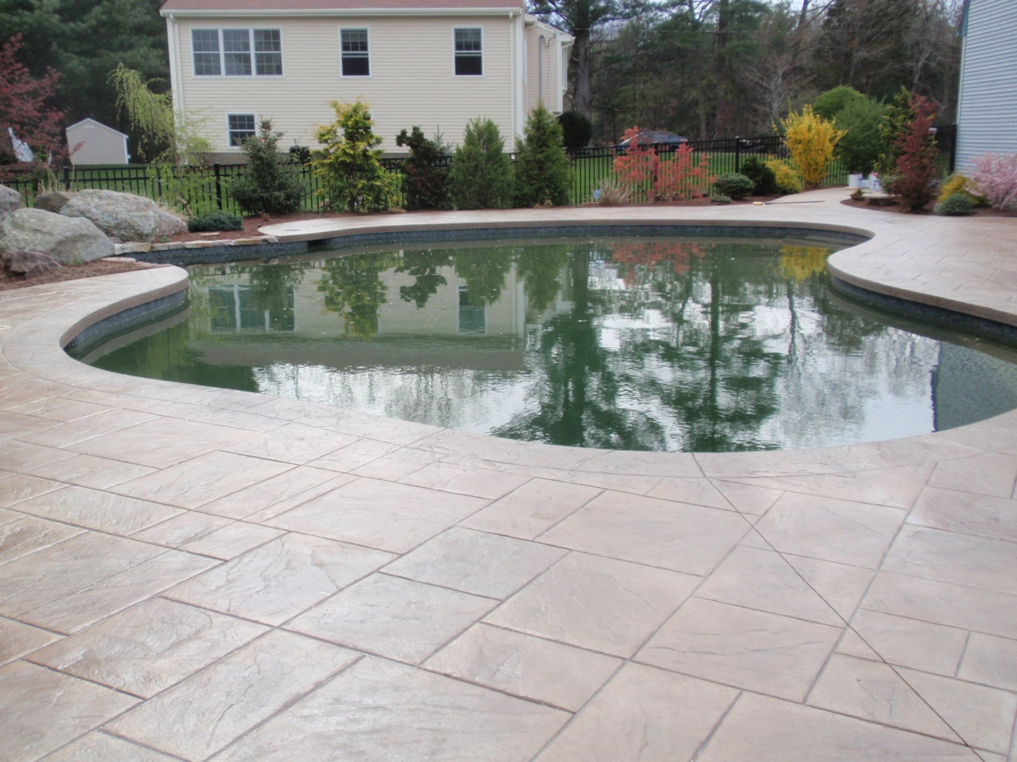 Sealing exposed aggregate pool deck - Stamped Concrete Cleaning Sealing Proper Cleaning And Sealing Of Your Stamped Or Exposed Aggregate Concrete Pool Patio Deck