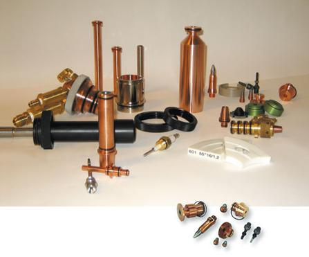 thermal spray spare parts