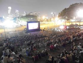Outdoor Movie Theater Wawa Welcome America Rocky Balboa at the Philadelphia Museum of Art.