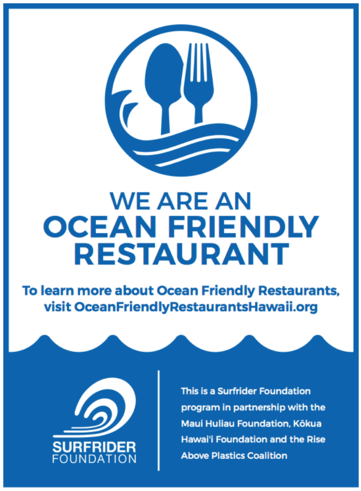 Ocean Friendly Restaurants Surfrider Foundation
