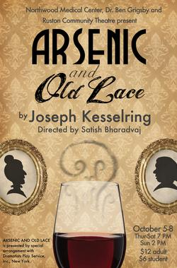 RCT Presents: Arsenic & Old Lace @ Dixie Center for the Arts