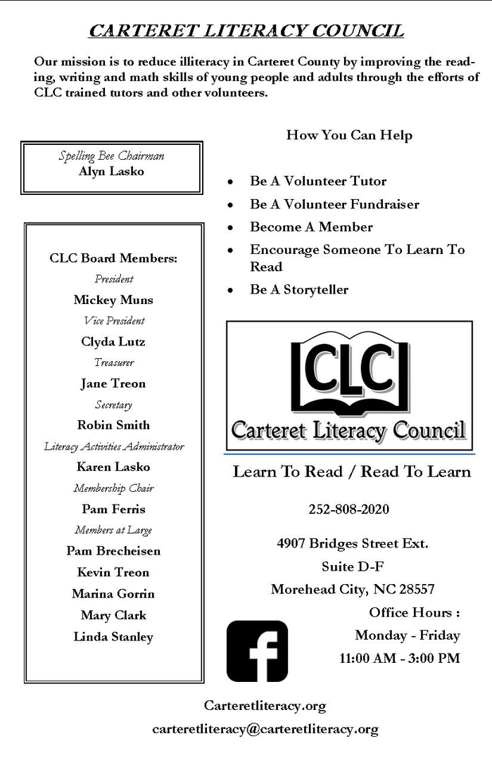 Literacy Spelling Bee & Silent Auction