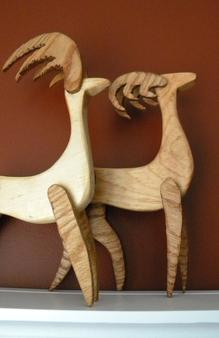 How to make scrap wood Reindeer Christmas decorations. FREE step by step instructions. www.DIYeasycrafts.com