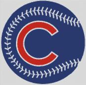Cross Stitch Chart pattern of the Chicago Cubs