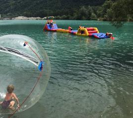 Water obstacle course and ball at Les Iles de Sion