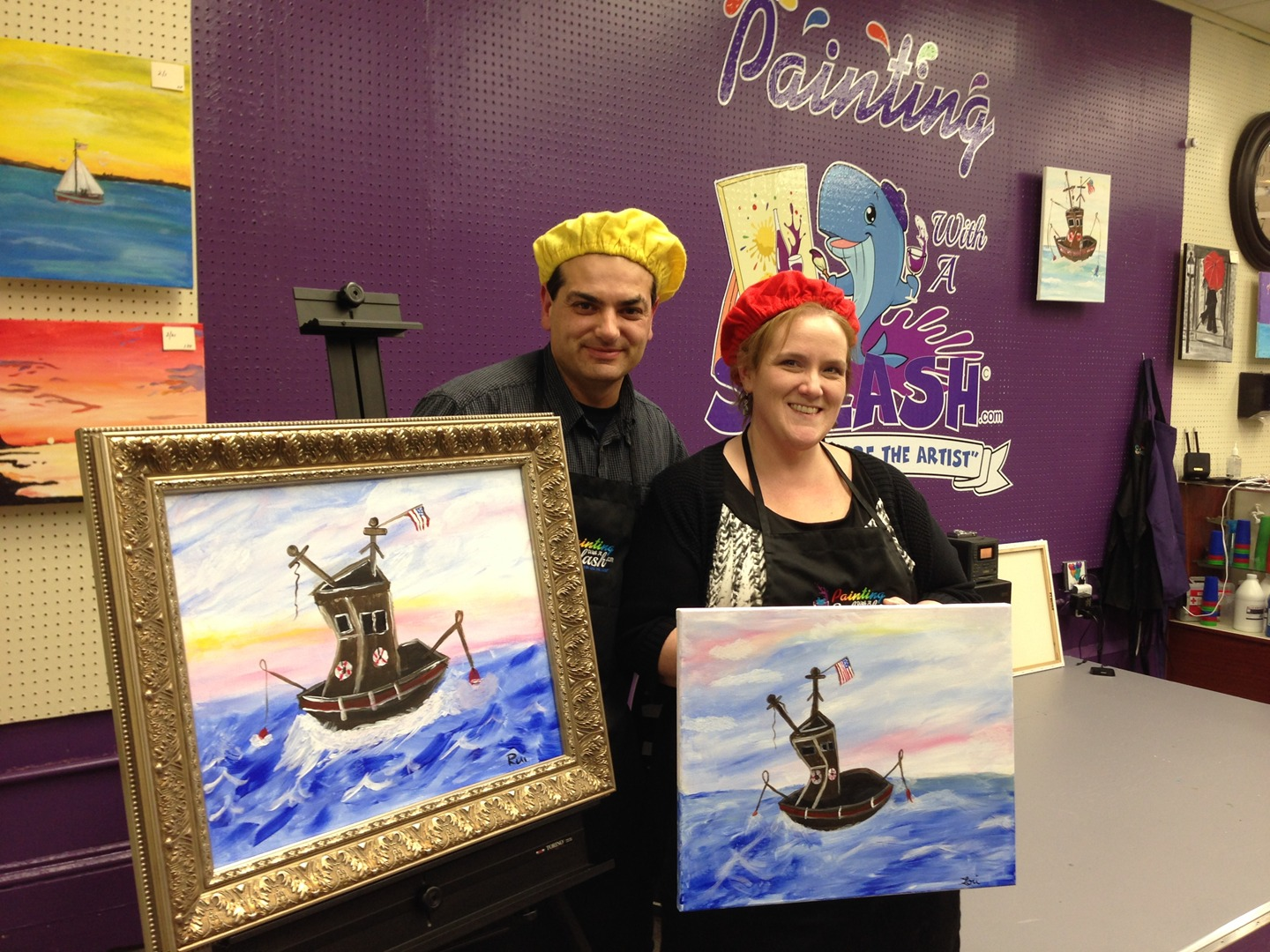 Painting With A Splash Fun Night Out Painting Class Party