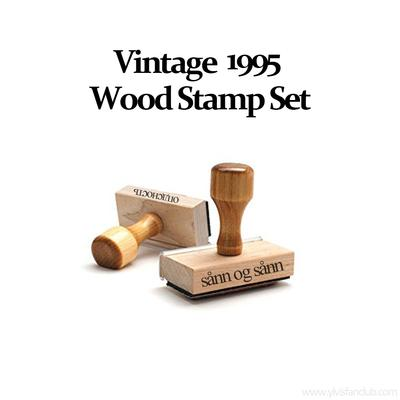 Vintage 1995 Wood Stamp Set