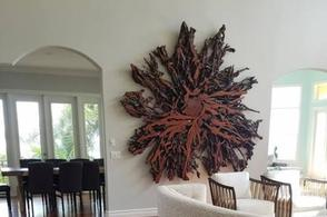 Live edge slab wood wall art