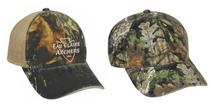 Embroidered Unstructured Camo Caps