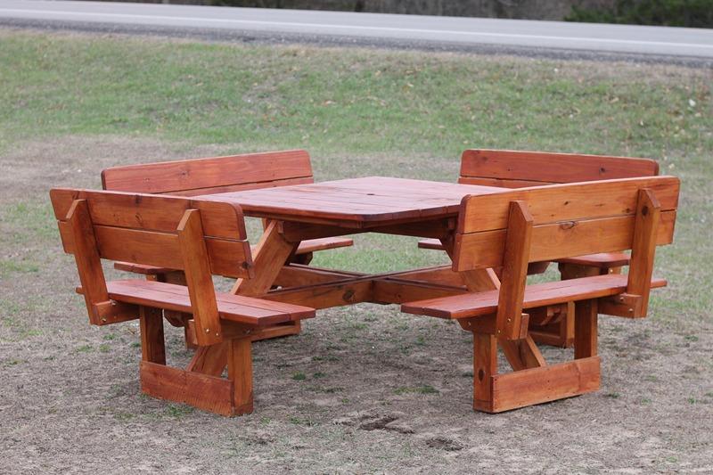 Picnic Tables - Walk in picnic table