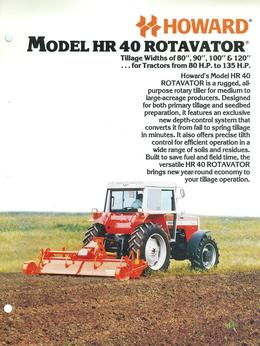 Howard Rotavator Model HR40 Brochure